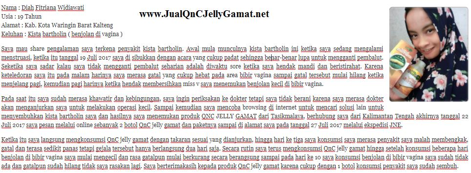 Testimoni QnC Jelly Gamat Untuk Penyakit Kista & Miom